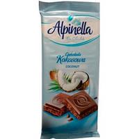 Шоколад с кокосовой стружкой Alpinella Сoconut. 90г. Польша.