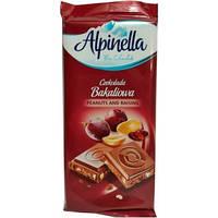 Молочный шоколад Alpinella Czekolada Peanuts and Raisins. 90г.