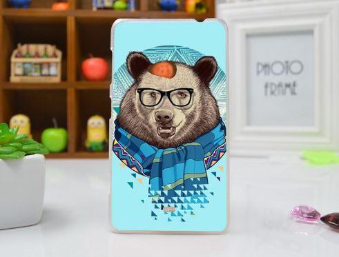Силиконовый чехол накладка для Nokia Lumia 625 с картинкой Медведь