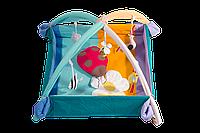 """Коврик-манеж с дугами и подвесными игрушками для игр и комфортного отдыха ребенка, Непоседа """"Божья коровка"""""""