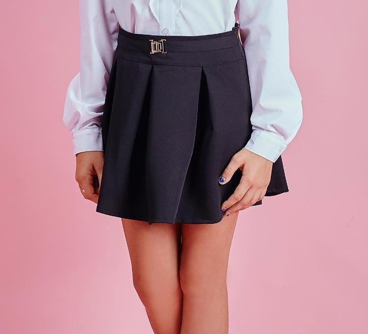Школьная юбочка цвет синий