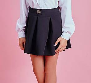 Школьная юбочка цвет синий, фото 2