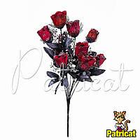 Букет Красных роз (Красные розы) из ткани с фатином Высота 46 см