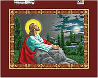"""Схема для вышивки бисером на подрамнике (холст) """"Молитва Иисуса"""""""