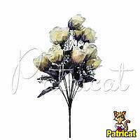 Букет Кремовых роз (Кремовые розы) из ткани с фатином Высота 46 см