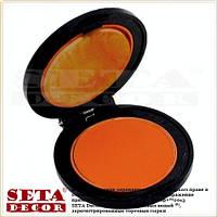 Цветная пудра для волос оранжевая