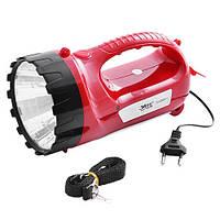 Аккумуляторный фонарь Yajia YJ-2820-1, ручной аккумуляторный фонарик,