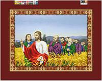 """Схема для вышивки бисером на подрамнике (холст) """"Иисус с Апостолами на пшеничном поле"""""""