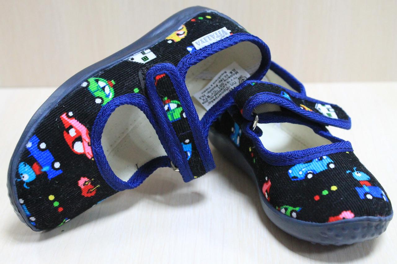 Тапочки в садик на девочку мальчика текстильные обувь Виталия Украина размеры с 23 по 27