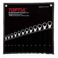 Набор ключей комбинированных с трещоткой TOPTUL GPAQ1202  12 ед. 8-19 мм