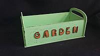 Ящик с ручками из фанеры оливкового цвета 27,5х15х9 см 145/115 (цена за 1 шт. + 30 гр.)