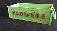 Ящик салатового цвета из фанеры 27,5х15х9 см, 145/115 (цена за 1 шт. + 30 гр.)