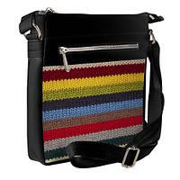 Черная сумка Покет с принтом Вязаный свитер