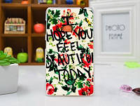 Чехол бампер для Nokia Lumia 625 с картинкой Надпись