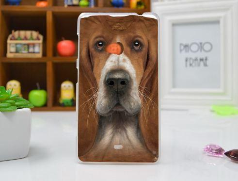 Чехол бампер для Nokia Lumia 625 с картинкой Собака