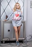 Веселое платье с принтом 11513 H Платье «Обнимахи»