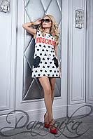 Платье с узором сердечко | 11514 M Платье «Формула»