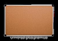 Доска для объявлений пробковая алюминиевая рамка 90 х 120 см.