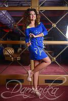 Яркое-синее платье «Tiffani»