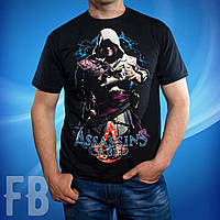 Черная мужская футболка Assassin's Creed