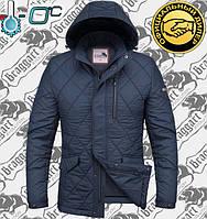 Куртка весенняя мужская Braggart - 1214 светло синий - белый