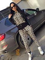 Женский леопардовый костюм из эластана