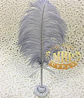 Ручка с серым пером для свадебной церемонии