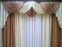 """Готовый ламбрекен + шторы """"Жаклин"""" №2 (для карниза 2.5м), фото 2"""