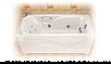 Ванна акрилова Тритон Катрін 169х70х56 прямокутна з каркасом та панеллю, фото 4