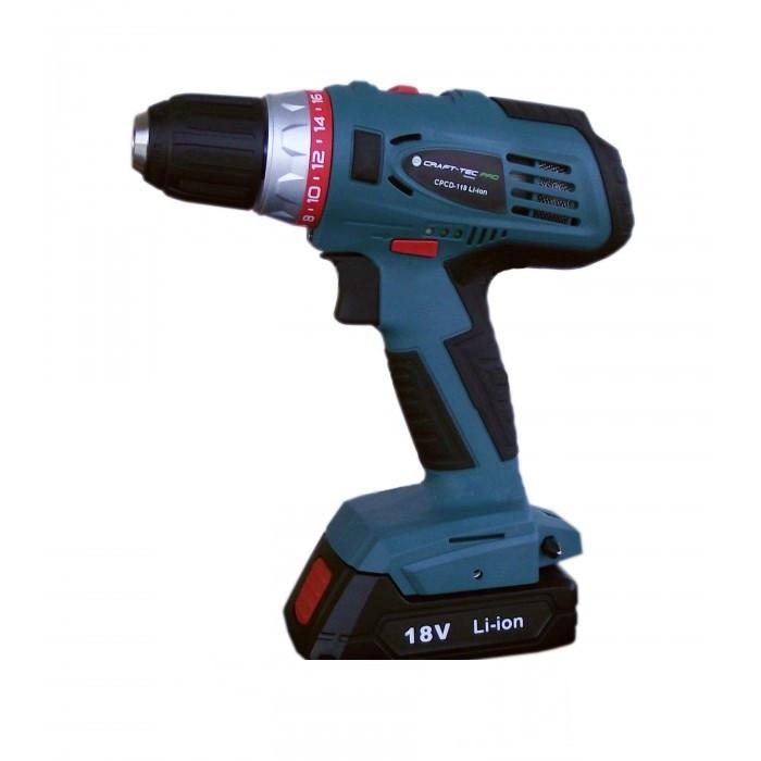 Шуруповерт аккумуляторный Craft-Tec PRO CPCD-18-2Li