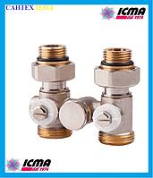 Двухтрубный вентиль для панельного радиатора ICMA 902