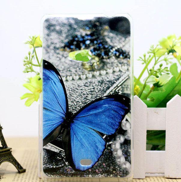 Силіконовий чохол для Nokia Lumia 625 з малюнком Метелик