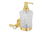 Дозатор для жидкого мыла KUGU Bavaria 314G (латунь, золото, стекло)(Бесплатная доставка  )