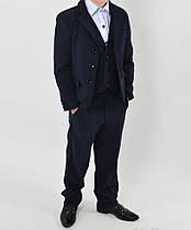 Школьный костюм для мальчика тройка  № 0420
