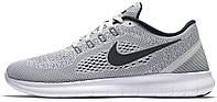 Мужские беговые кроссовки Nike Free Run (найк фри ран) серые