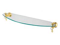 Полка для ванной комнаты KUGU Bavaria 303G (латунь, золото, стекло)(Бесплатная доставка Новой почтой)
