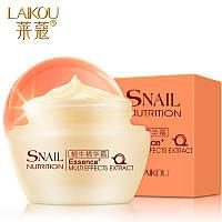 Увлажняющий крем для лица с фильтратом улиточной слизи Laikou