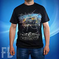 Черная мужская футболка с танками World of Tanks