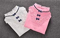 Кофточка-блузка з мереживом для дівчинки