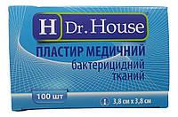 Лейкопластырь Dr.House бактерицидный тканевая основа 3,8*3,8 см