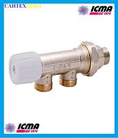 Однотрубный ручной вентиль с боковым управлением ICMA 856