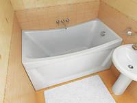 Ванна Тритон Ирис 1300х700х645 акриловая (ванна+каркас+лиц.экр.+слив-перелив)