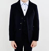 Школьный костюм для мальчика тройка черного цвета №0430