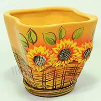 Горшок керамический для пересадки цветов  Тюльпан 3,5 л