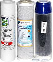"""Комплект Картриджей """"Роса 627"""" для проточных систем очистки воды.ТРИО Thai для мягкой воды"""