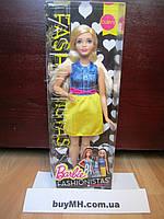 Кукла Барби пухлая блондинка Barbie Fashionistas Chambray Chic Curvy