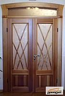 Деревянные двери с накладными шпросами, фото 1