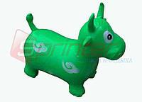 Надувная игрушка-попрыгунчик корова (зеленый)