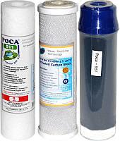 """Комплект Картриджей """"Роса 627"""" для проточных систем очистки воды.ТРИО (Thai для мягкой воды)"""