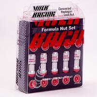 Комплект гаек (секретки) Volk Racing M09-1/Hba Конус (M12x1.25x45) Хром/Красные шляпки